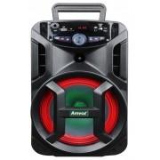 Radio Portatil Caixa De Som Bluetooth Fm Cartão Sd Entrada Auxiliar Led 180W Rms Bivolt ACA 188 Gigante Amvox
