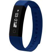Relógio Inteligente Fit Band Com Conexão Bluetooth Esportivo Azul Recarregável Prova D' Água Frequência Cardíaca Pressão Original Sanguínea