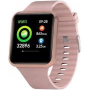 Relógio Inteligente Smartwatch Bluetooth Fitness Celular Android IOS Resistente A Água Tela Touch Batimento Cardíaco Rose Xtrax Watch