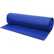 Tapete Yoga Mat Pilates Fitness Ginástica 170x60cm 5mm Grande Azul Colchonete EVA Antiderrapante Com Alça Exercícios Academia Acte