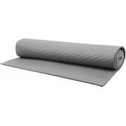 Tapete Yoga Mat Pilates Fitness Ginástica 170x60cm 5mm Grande Cinza Colchonete EVA Antiderrapante Com Alça Exercícios Academia Acte