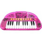 Teclado Musical Show Instrumento Elêtronico De Brinquedo Grava Reproduz Sons Piano E Teclado Incentiva a Coodernação Motora Toyng