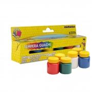 Tinta Tempera Guache Acrilex Com 6 Cores Miscíveis 15ml