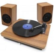Toca Disco De Vinil Vitrola Micro System Turnable Pulse Retrô Bluetooth Moderna Sinatra 100W