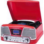 Toca Discos Harmony Raveo Grava Bluetooth/cd/fm/usb - Vermelho