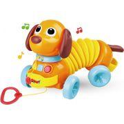 Totó Sanfona Musical Flexível Infantil Eletrônico Puxa E Volta Plástico Certificado Pelo Inmetro Modelo ZP00246 Original Zoop Toys