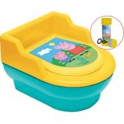 Troninho Infantil Penico Para Bebê Meninos Meninas Desfralde Vaso Sanitário Com Tampa Pinico Removível Bolhas De Sabão Peppa Pig Elka