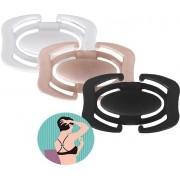 Unificador De Alças Sutiã Clip Kit 3 Unidades Resistente Transforma Em Nadador Feminino Novo
