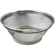 Utensílios De Cozinha Escorredor De Alimentos Multiuso Macarrão Legumes Frituras Lavar Redondo 25Cm Em Metal Resistente Telado Top Chef