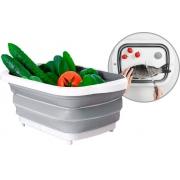 Utensílios De Cozinha Silicone Bacia Retrátil 3 Em1 Placa De Corte Multifuncional Dobrável Escorredor Alimentos Retangular Top Chef