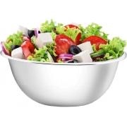 Utensílios De Cozinha Tigela Bowl Inox Fundo 22cm Cumbuca Multiuso Redonda 2,4 Litros Saladeira Resistente Top Rio