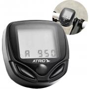 Velocímetro Ciclocomputador Atrio Para Bicicleta Botões 16 Funções Monitoramento Suporte Bateria Relógio Novo
