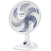 Ventilador De Mesa Parede 40 Cm Silencioso Oscilante 6 Pás 140W Branco 3 Velocidades 110V Econômico Ultra Mondial