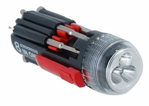 Kit Chaves Precisão Magnética Multifuncional Lanterna 8 X 1
