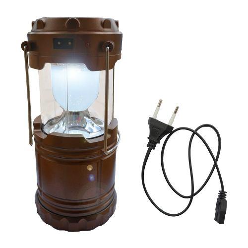Kit Com 7 Luminárias Solar Lampião Led Elétrico Recarregável