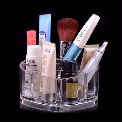 Porta Treco Batom Em Acrílico Coração 8 Lugares - Maquiagem