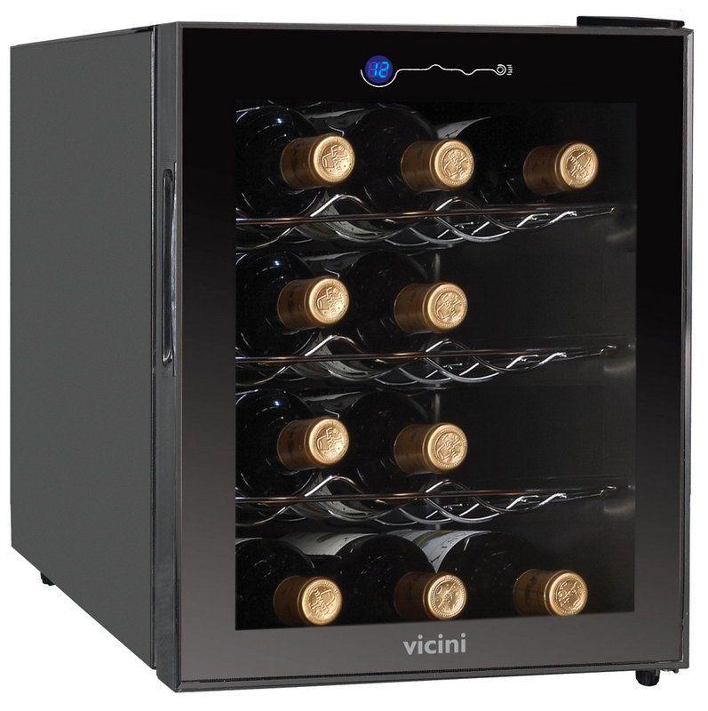 Adega Frigobar De Vinhos 12 Garrafas 110 V 220 V  Vicini VCL 712