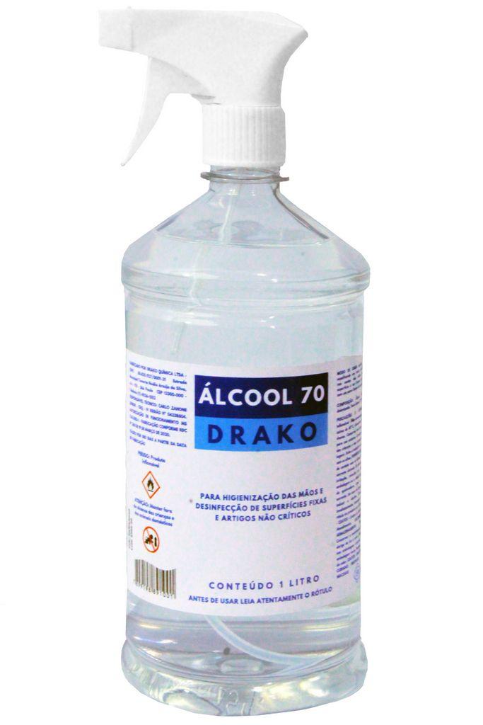 Alcool 70 Liquido 5 Litros Borrifador Spray Galão Etilico Hidratado Antisséptico Limpeza Multiuso Drako