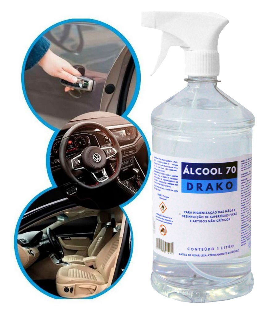 Alcool 70 Liquido Borrifador Spray Pulverizador Etílico Manual 1 Litro Higienizador Desinfetante Para Superfícies