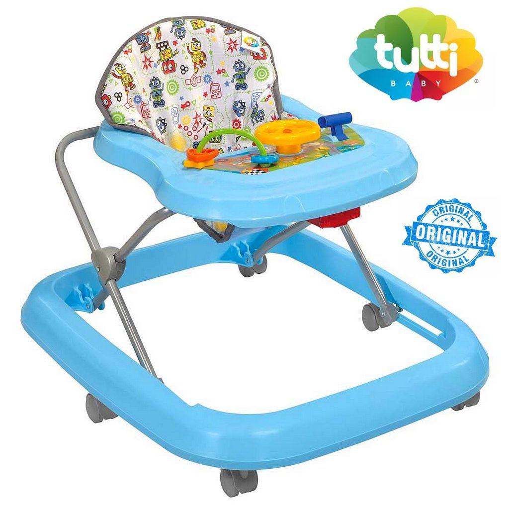 Andador Infantil Azul Tutti Baby Azul Menino Até 15Kg Toy