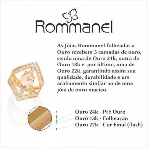 Anel Rommanel Circulos Vazados Fol Ouro 18k Solitario 511048