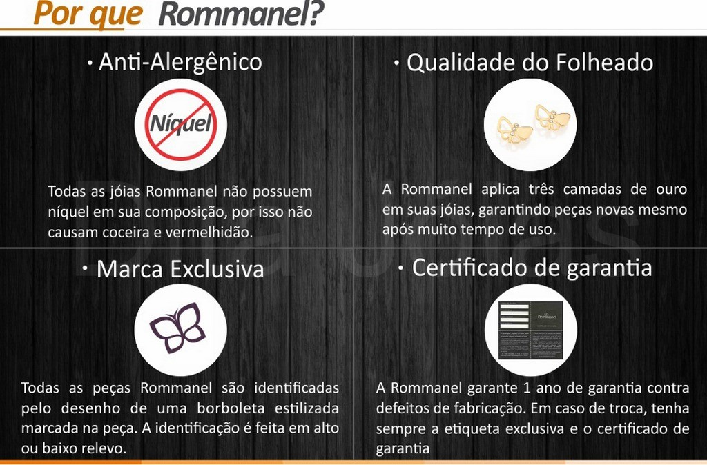 Anel Solitário Zircônia - Folheado Ouro Rommanel 512180