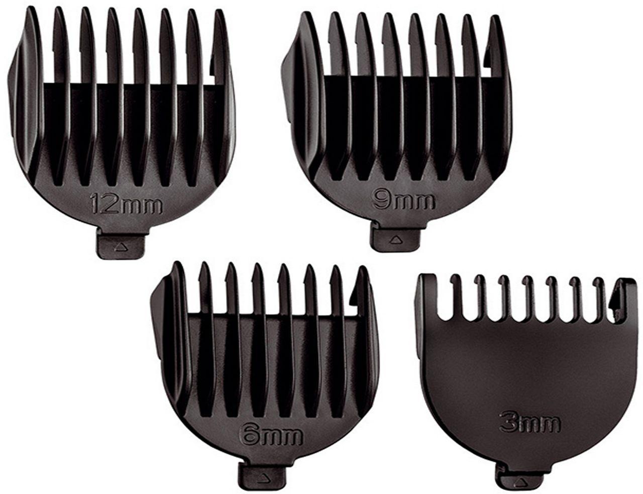 Aparador De Pelos  6 Em 1 Barbeador Cortador Cabelos Barba Base Carregadora Sem fio Recarregável Lâminas Aço Inox 6 Peças Bivolt 6 Watts Super Groom Mondial Original