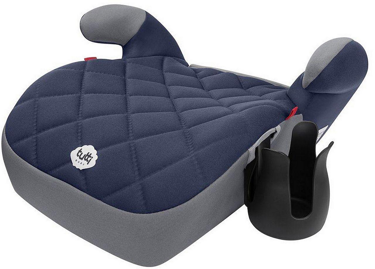 Assento De Elevação Azul Cadeirinha Criança Carro Tutti Baby Seguro Triton Acolchoado Porta Mamadeira