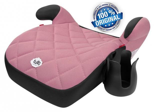 Assento De Elevação Rosa Cadeirinha Criança Carro Tutti Baby Seguro Triton Acolchoado Porta Mamadeira