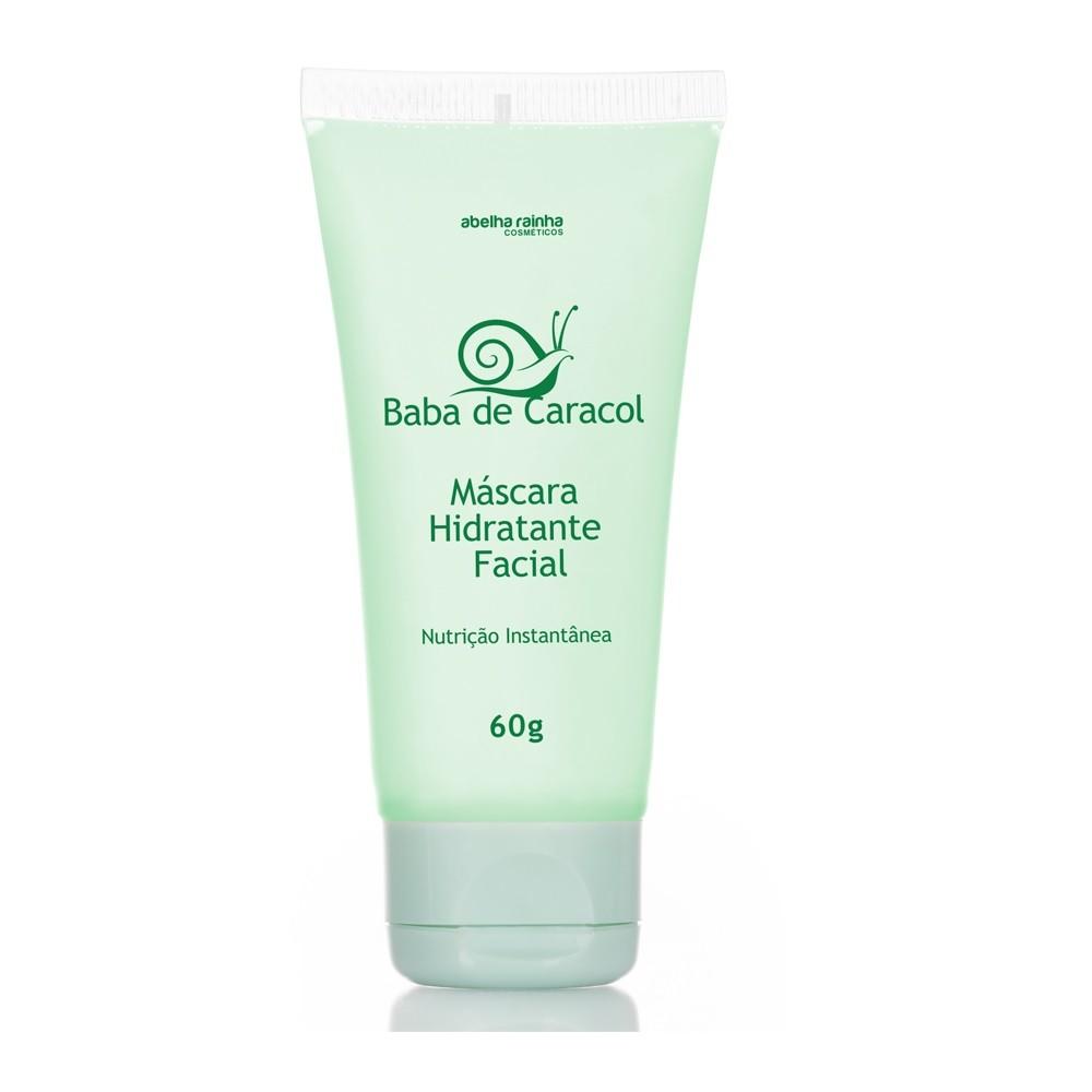 Baba De Caracol Máscara Hidratante Facial 60g  Abelha Rainha
