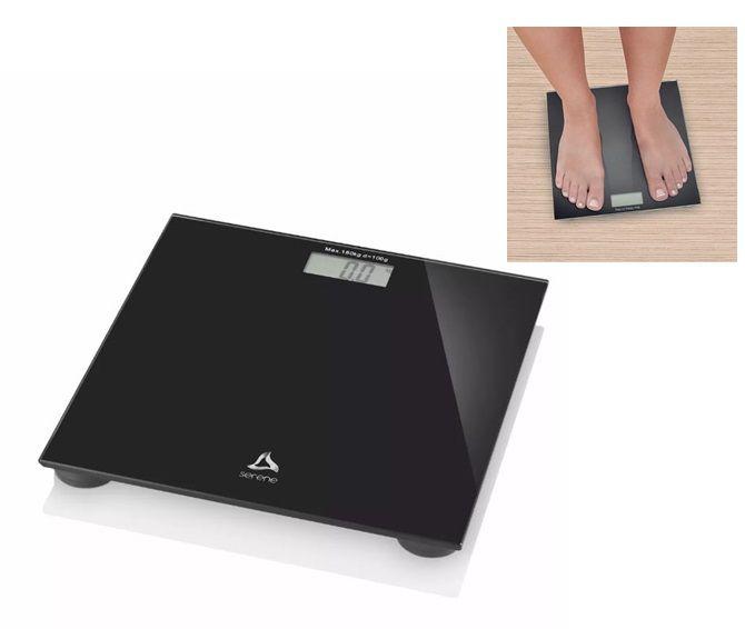 Balança Digital Digi-health Serene Preta Multilaser  - Hc022