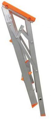 Banco Escada  Banqueta Dobrável Alumínio 3 Degraus