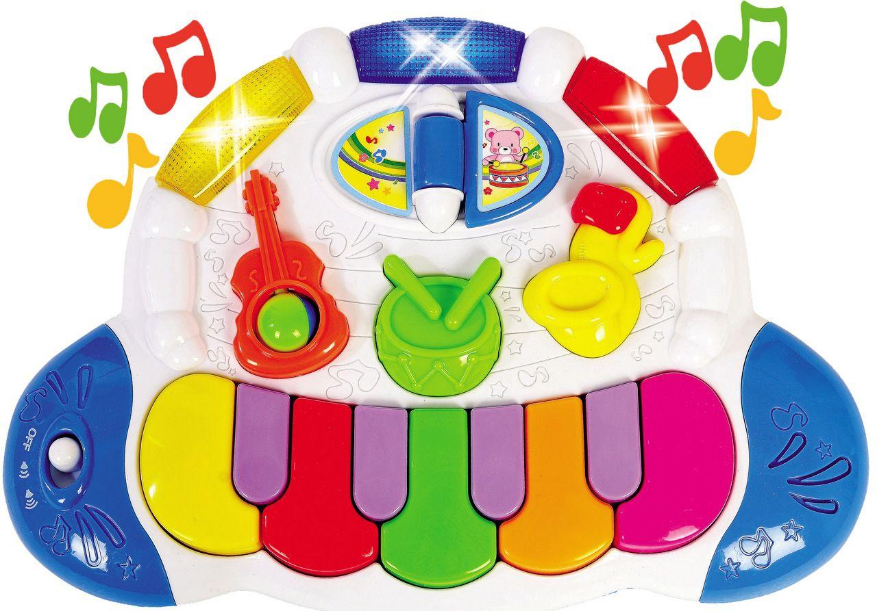 Bandinha Show Tecladinho Inteligente Eletrônico Musical Pianinho Luz Estimula Coordenação Motora ZP00003 Original Zoop Toys