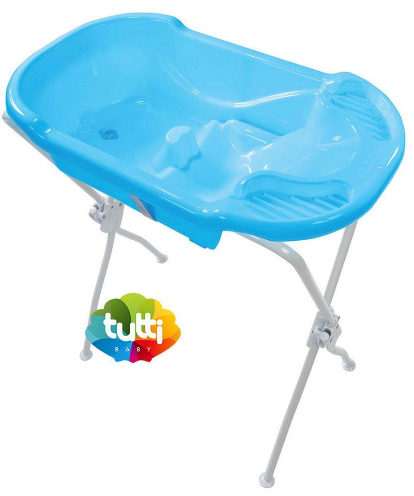 Banheira Para Bebê Com Suporte Infantil Azul Menino Ergonômica Alta Resistência Tutti Baby Origina
