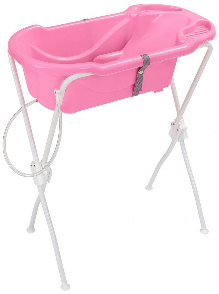 Banheira Para Bebê Com Suporte Infantil Rosa Menina Ergonômica Alta Resistência Tutti Baby Origina