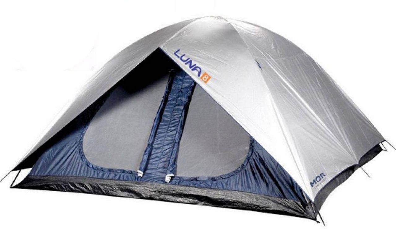 Barraca Camping Luna 8 Pessoas Poliéster Azul Impermeável Mor