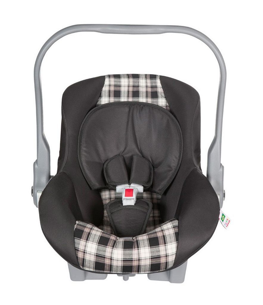 Bebê Conforto Menino Preto Xadrez Até 1 ano Capota Tutti Baby