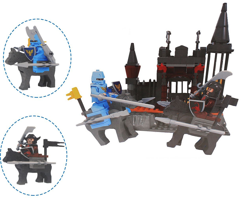 Bloco De Montar Guerreiros 220 Peças Infantil Menino Certificado Inmetro +3 Anos Nível Dificuldade Médio Original Vip Toys