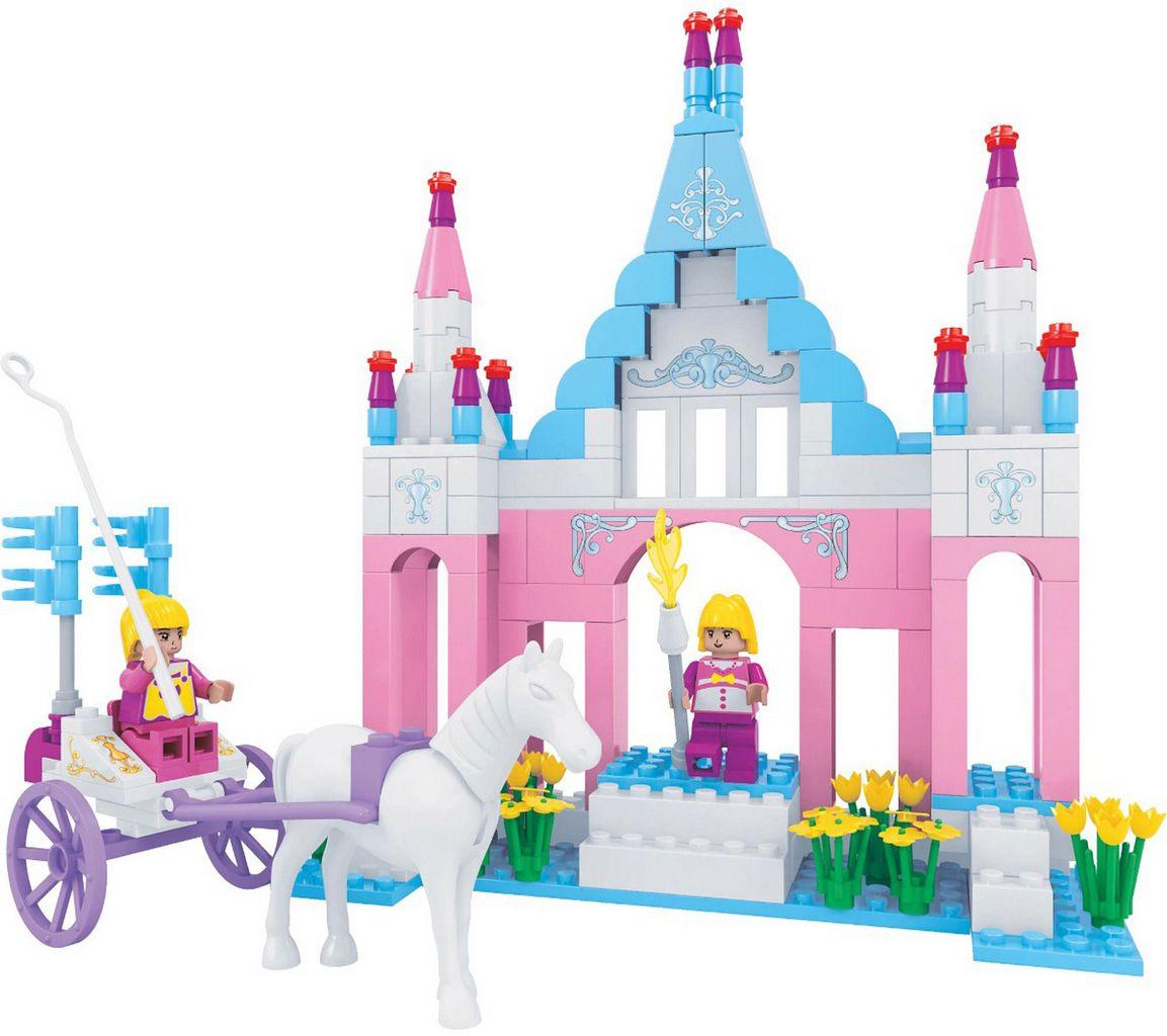 Bloco De Montar Infantil 245 Peças Castelo Da Fantasia Princesa Rosa Certificado Inmetro Nível Dificuldade Média
