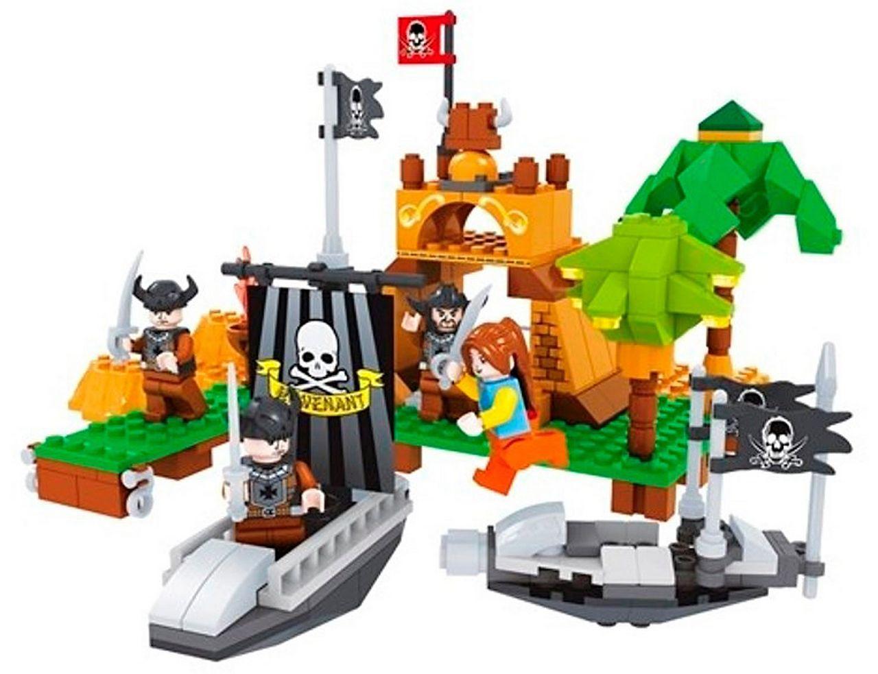 Bloco De Montar Infantil 226 Peças Piratas Certificado Inmetro Nível Dificuldade Médio Original Vip Toys