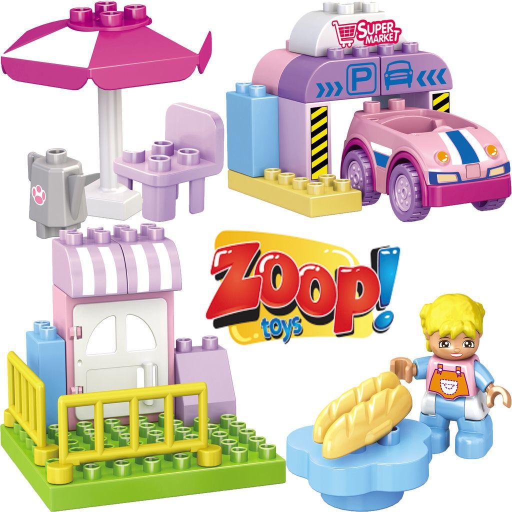 Bloco De Montar Infantil Menina 31 Peças Hora De Comprar Certificado Inmetro Modelo ZP00656 Original Zoop Toys
