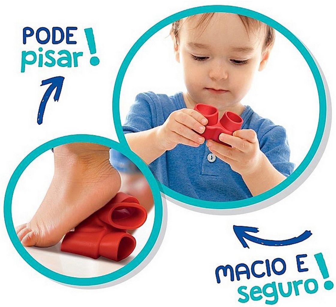 Blocos De Montar Encaixar Fofo Blocos Baby Shark 15 Peças Macio Bebês +1 Ano Brinquedo Infantil Menino Menina Bolhas De Sabão Elka Original