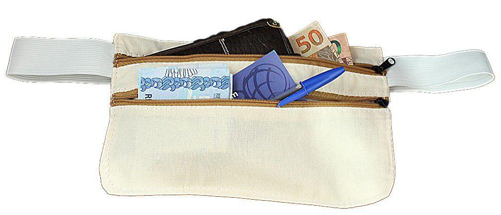 Bolsa Doleira Porta Dinheiro Cintura Viagem Anti Roubo Segurança