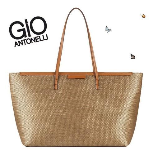 Bolsa Feminina Grande Tote Bag Bege Creme Gio Antonelli GIO1903