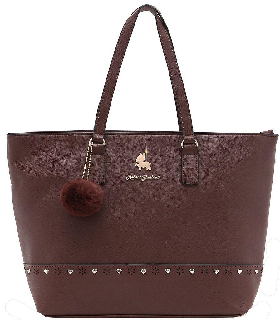 Bolsa Feminina Rebecca Bonbon Original Lado Grande Marrom Tote Bag Semax Original