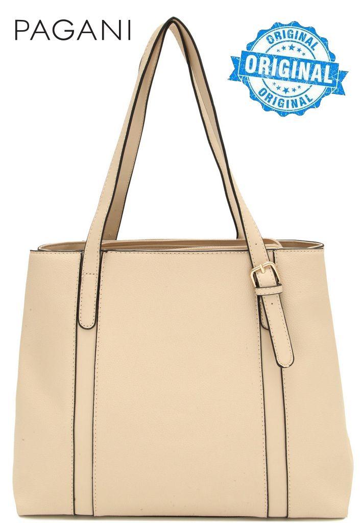 Bolsa Feminina Tote Bag Creme Resistente Alça Mão Original Pagani Semax PG3811