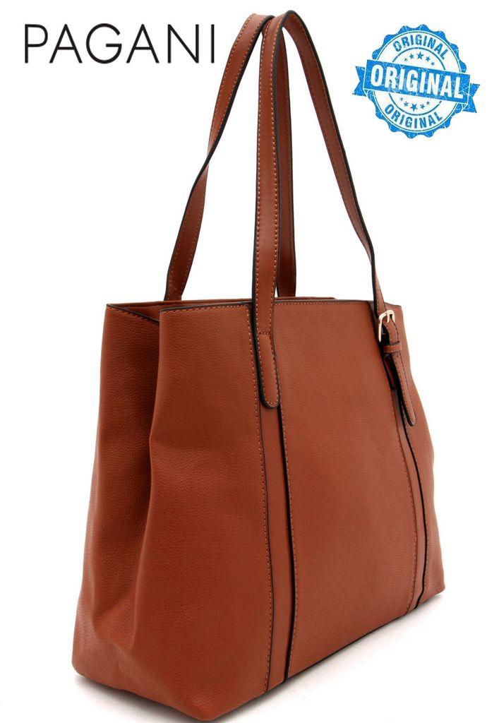 Bolsa Feminina Tote Bag Marrom Resistente Alça Mão Original Pagani Semax PG3811