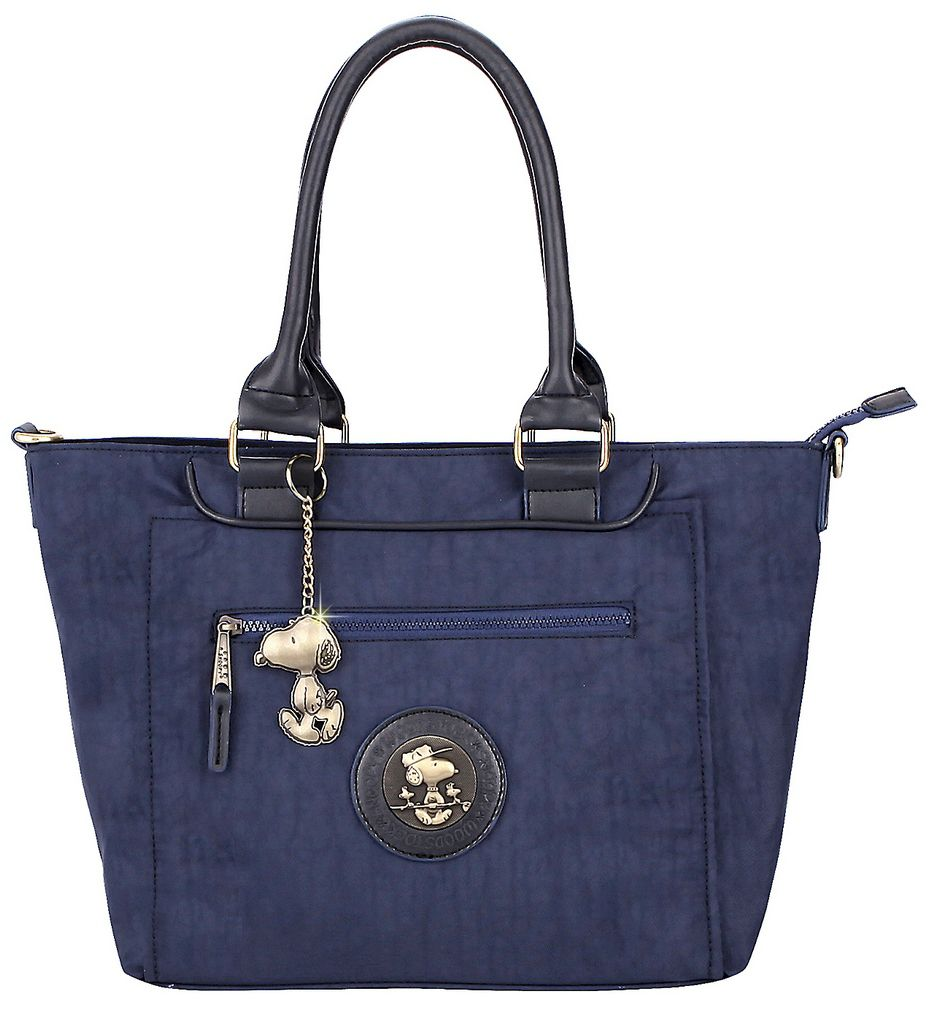 Bolsa Feminina Tote Bag Media Resistente Azul Alça Ombro Tiracolo Transversal Original Snoopy