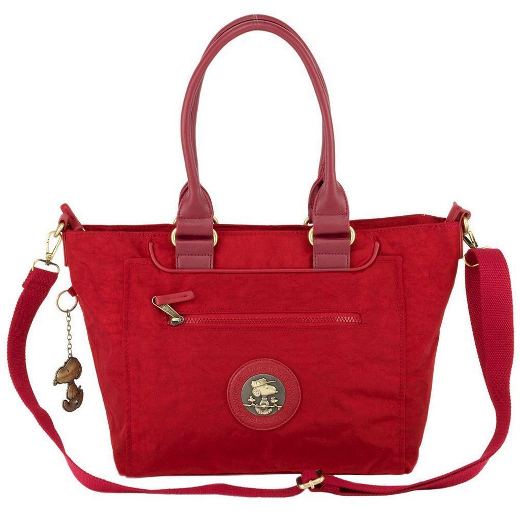 Bolsa Feminina Tote Bag Media Resistente Vermelha Alça Ombro Tiracolo Transversal Original Snoopy