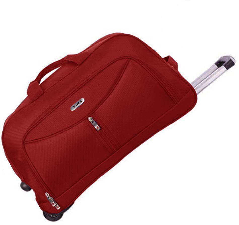 Bolsa Mala Mão Poliéster Rodinhas Silicone Pequena Sacola Vermelha Viagem Yins